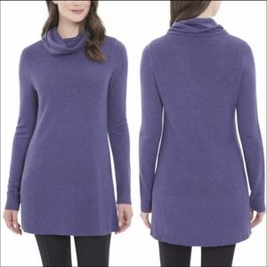 Adrienne Vittadini Sweater Knit Tunic Long Top S